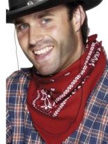 Bandana foulard rouge Accessoires génériques