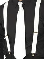 Bretelles élastiques blanc Accessoires génériques