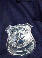 Police insigne métal argent Accessoires génériques