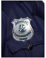Accessoires génériques Police insigne métal argent