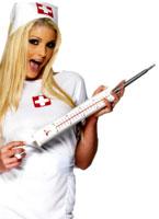 Longtemps Jumbo seringue plastique blanc Accessoires génériques