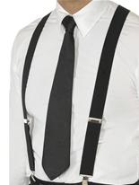 Bretelles élastiques noir Accessoires génériques