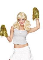 Cheerleader Pom Poms métallisé or Accessoires génériques