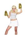 Accessoires génériques Cheerleader Pom Poms métallisé or