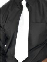 Cravate de gangster blanc Polyester Accessoires génériques