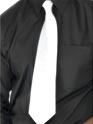 Accessoires génériques Cravate de gangster blanc Polyester