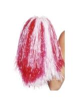 Pompons rouge et blanc Accessoires génériques