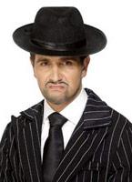 Pleine longueur Gangster cravate Polyester noir Accessoires génériques