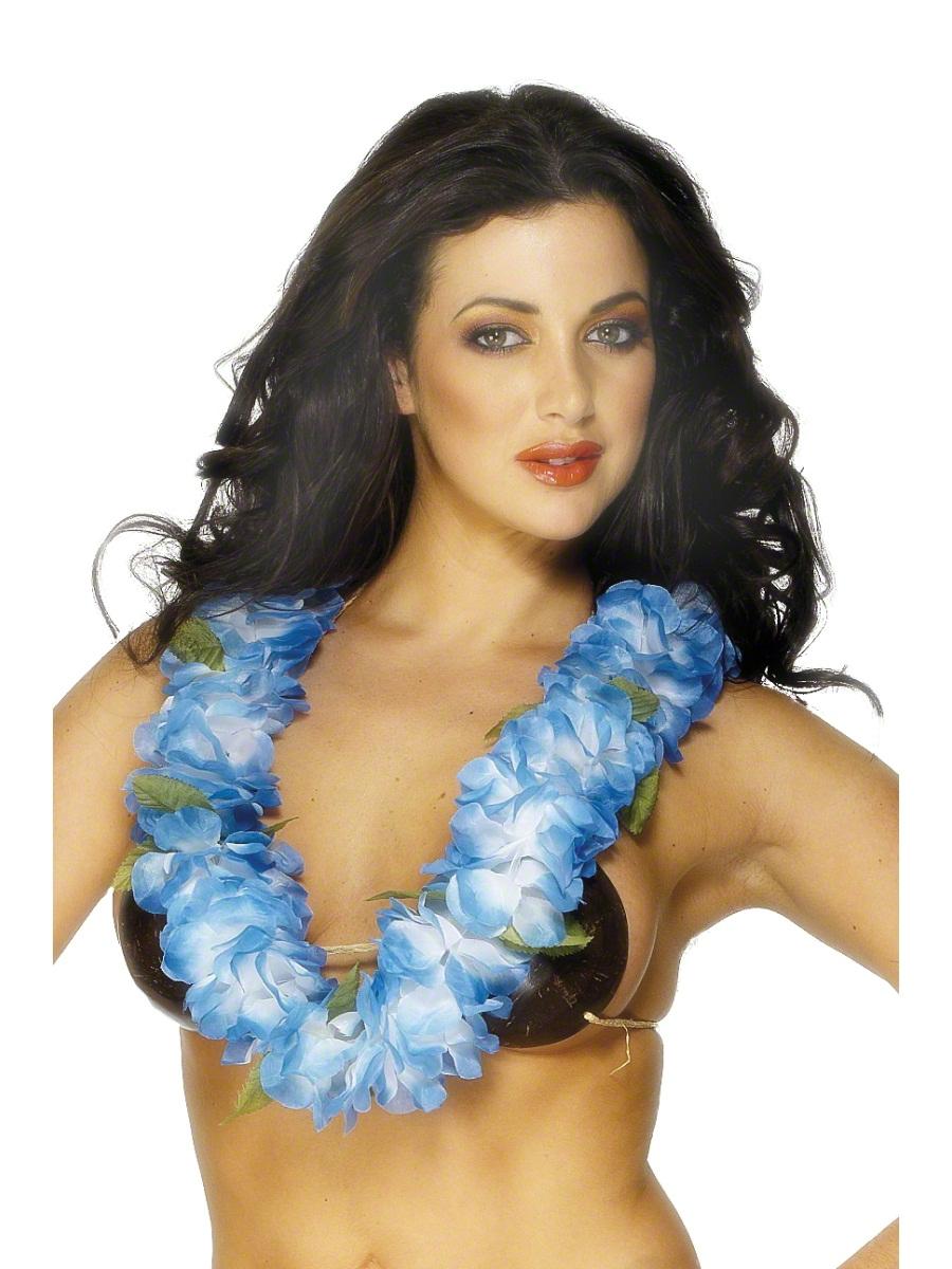 Accessoires hawaïennes Blue Hawaiian Lei