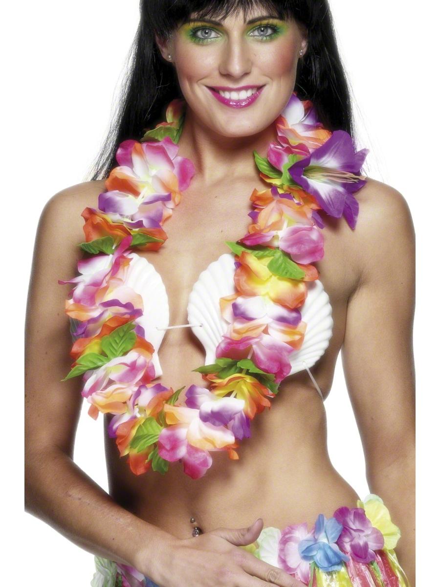Accessoires hawaïennes Guirlande hawaïenne de couleurs vives