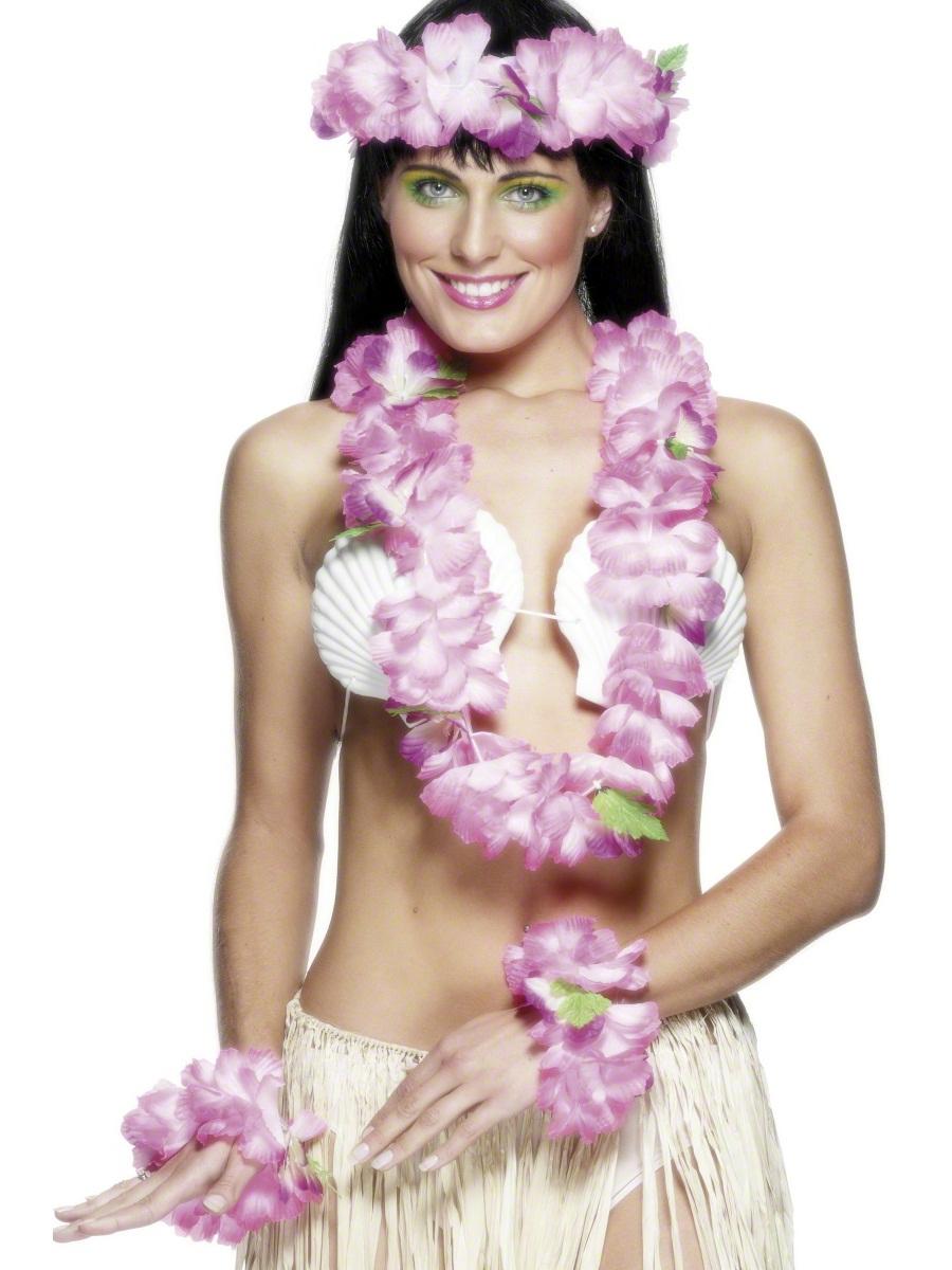 Accessoires hawaïennes Rose Set hawaïen