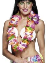 Guirlande hawaïenne de couleurs vives Accessoires hawaïennes