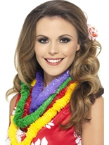Hawaiian Lei Party 4 couleurs assorties Accessoires hawaïennes