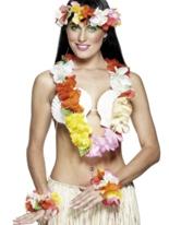 Deluxe multicolore Set hawaïen Accessoires hawaïennes