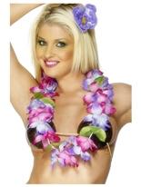 Hawaiian Lei violet et rose Accessoires hawaïennes