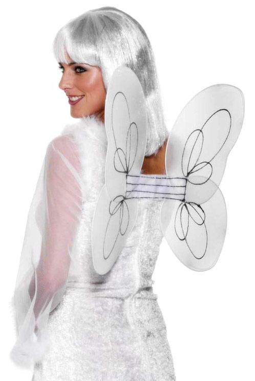 Ailes & Halos Net ange ailes blanc argent