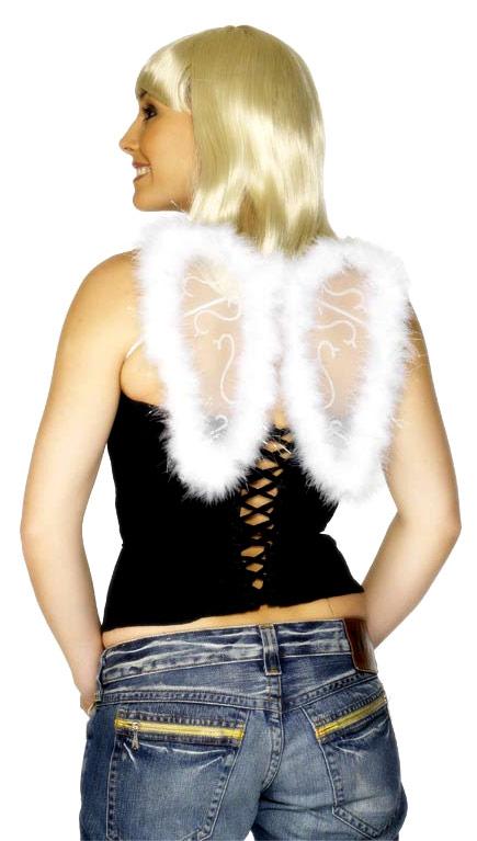 Ailes & Halos Paillettes mini ailes blanc