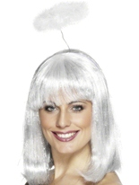 Marabou Angel Halo sur bandeau blanc Ailes & Halos
