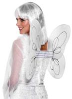 Net ange ailes blanc argent Ailes & Halos