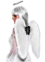Anges Set blanc Ailes & Halos