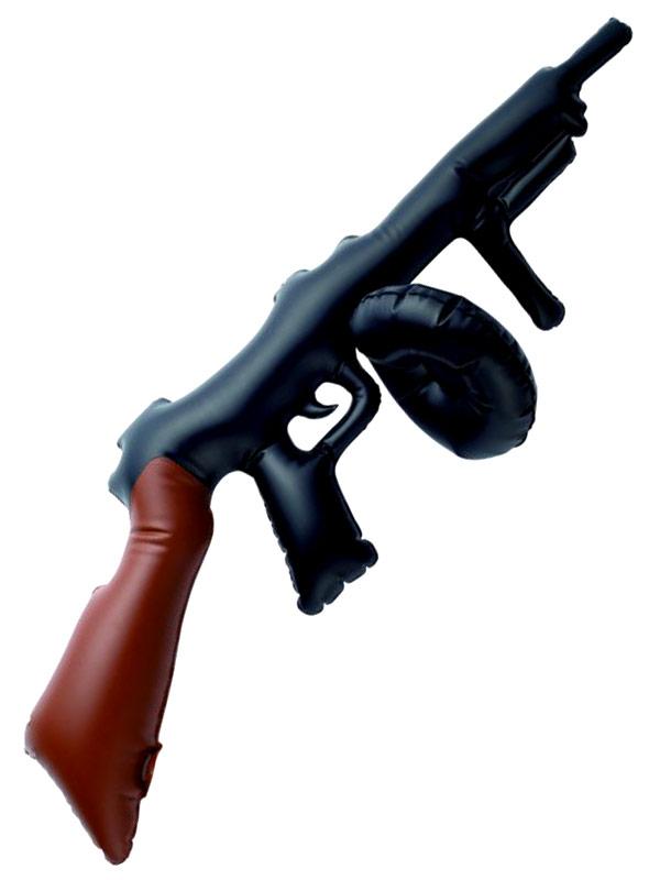 Armes à feu Gonflable noir Tommy Gun