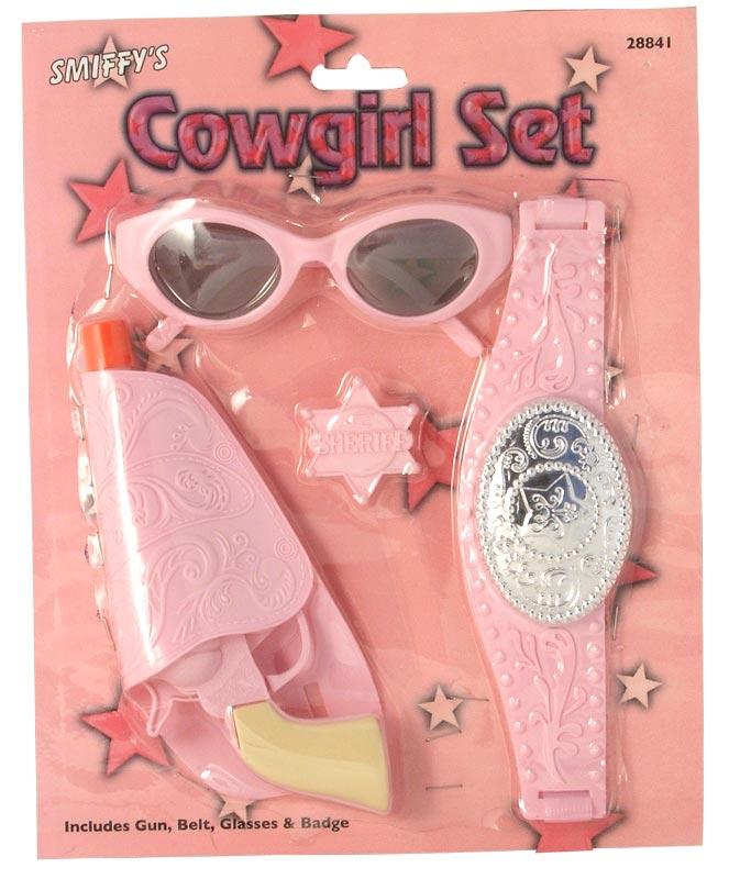 Armes à feu Childrens Cowgirl Set Pink