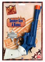 Pistolet grand shérifs et Badge plastique Armes à feu