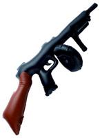 Gonflable noir Tommy Gun Armes à feu