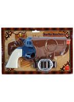 Pistolet d'eau défini blanc bleu brun Armes à feu