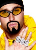 3 En 1 Glitter signe Dollar $ rappeur anneaux argent Bijoux fantaisie