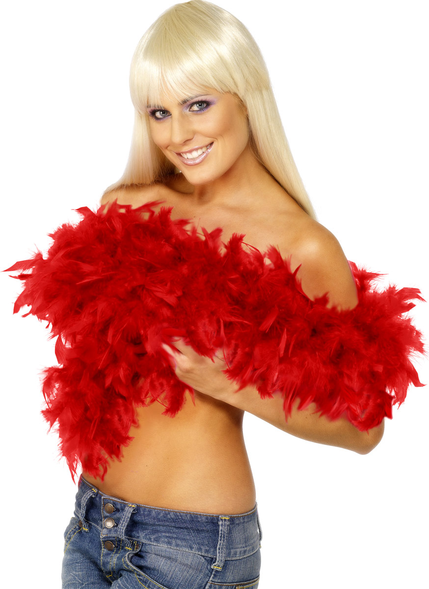 Boas & foulards Deluxe Boa plumes rouge