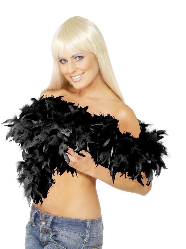 Boas & foulards Boa luxe noir plume
