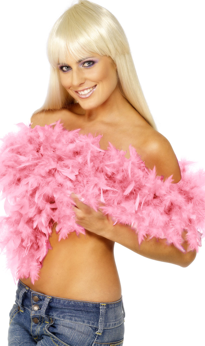 Boas & foulards Boa luxe Pink Feather