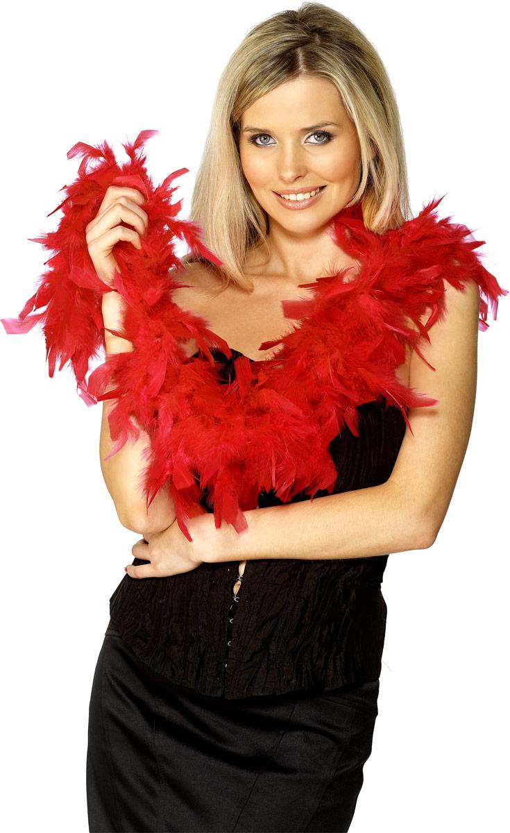 Boas & foulards Boa plumes rouge