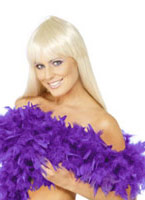 Boa luxe violet plumes Boas & foulards