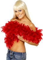 Deluxe Boa plumes rouge Boas & foulards