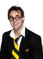 École cravate élastique jaune et noir Boas & foulards