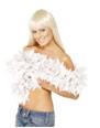 Boas & foulards Boa luxe White Feather