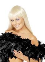 Boa luxe noir plume Boas & foulards