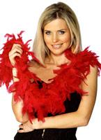 Boa plumes rouge Boas & foulards