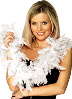 Boa plumes blanc Boas & foulards