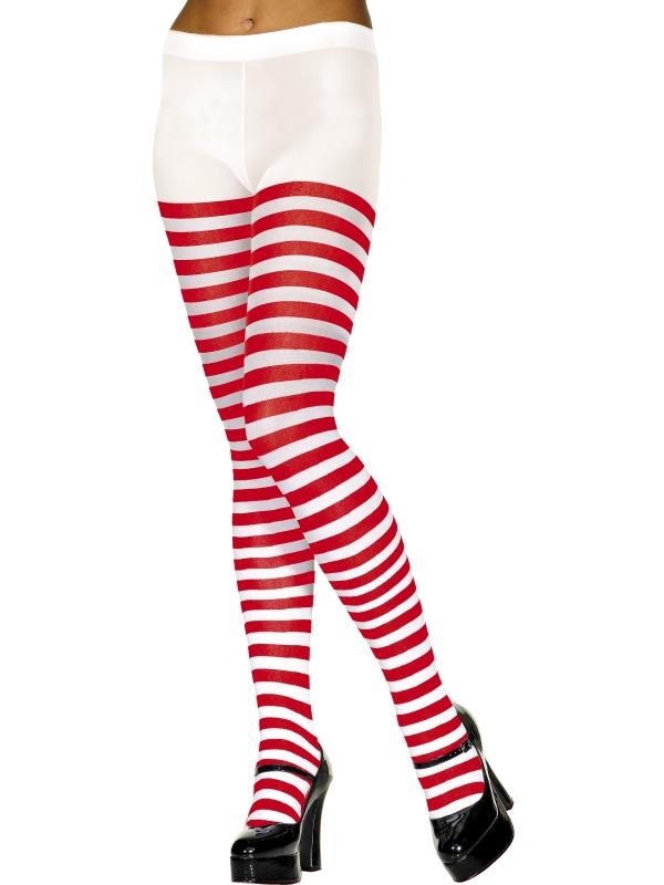 Bonnet Collants à rayures rouge et blanc