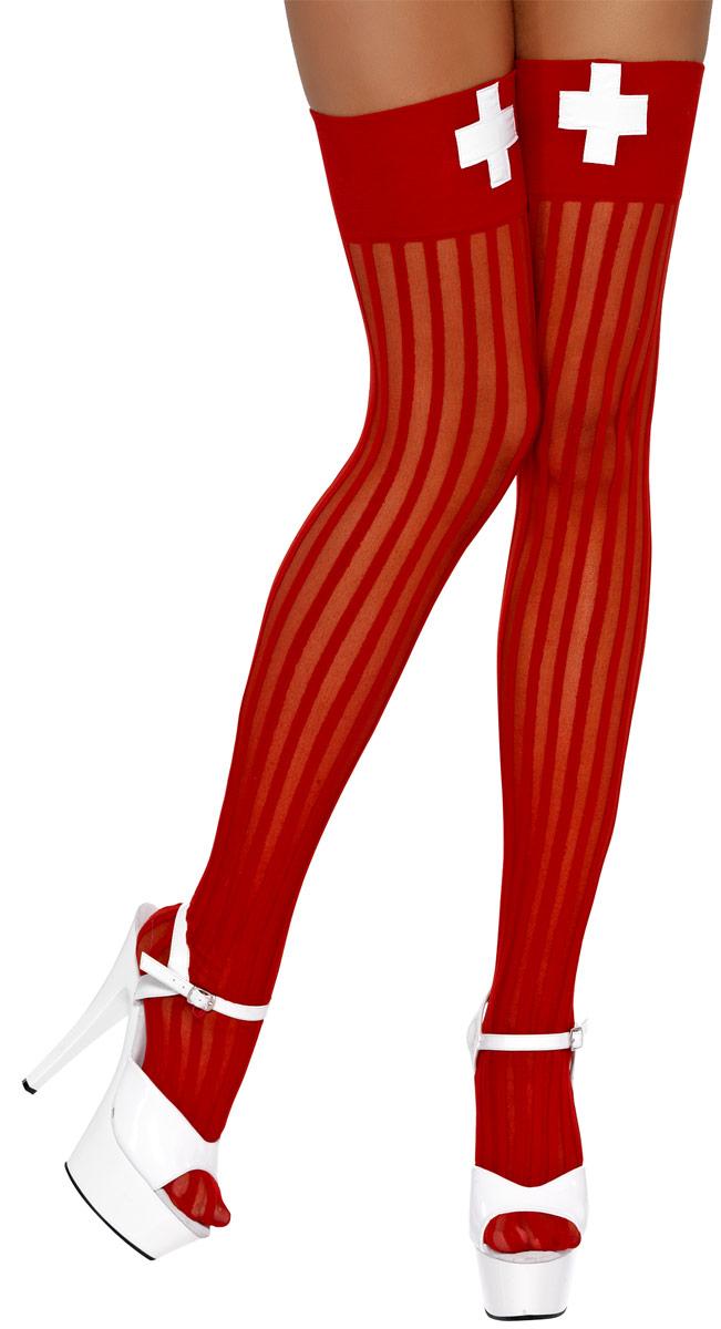 Bonnet Hauts de cuisse de Nurse rouge & blanc