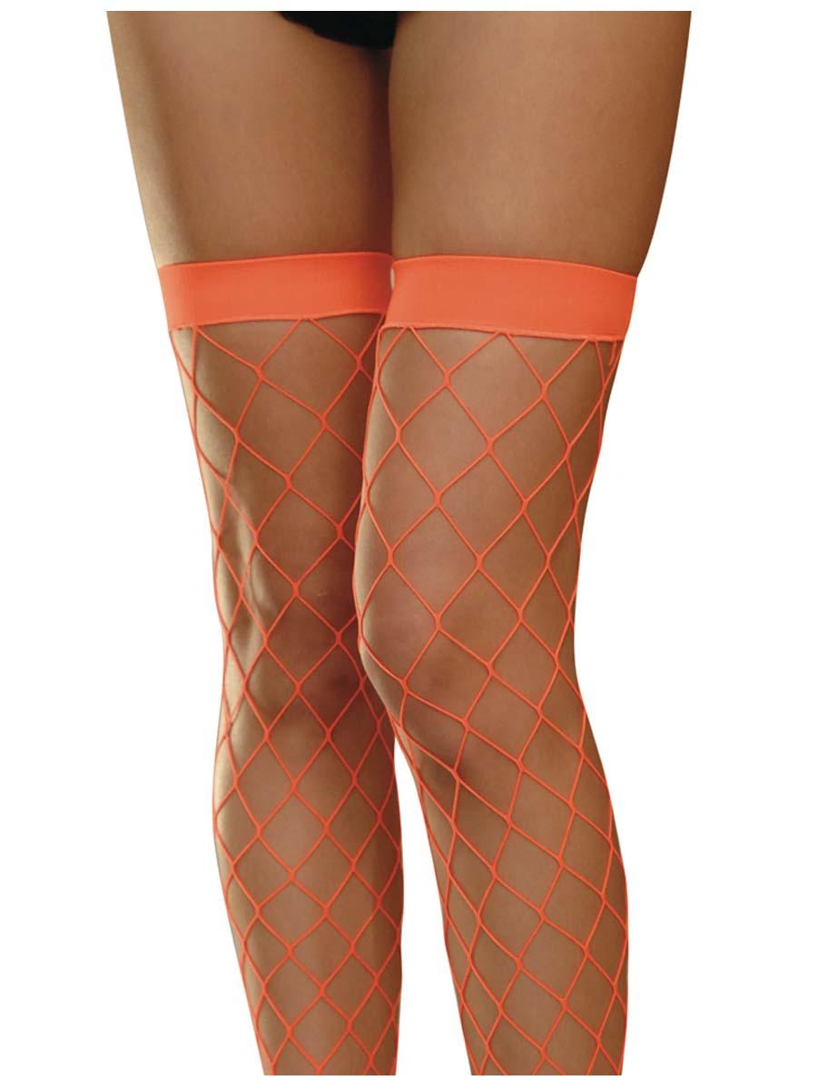 Bonnet Néon Orange résille bas cuissardes