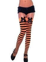 Bas à rayures noir et Orange Bonnet