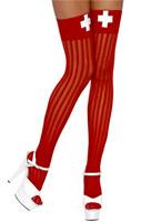 Hauts de cuisse de Nurse rouge & blanc Bonnet