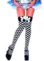 Noir & blanc vérifier hauts de cuisse Bonnet