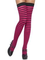 Cuissardes à rayures rose et noir Bonnet