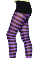 Collants violets et noirs Bonnet