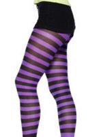 Collants violets et noirs Bonnet